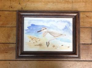 """""""Sandpiper"""" 4x6 Watercolor $50"""
